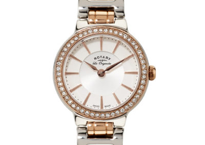 rotery watch rose gold and silver